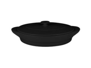 """Chefs fusion""Tava ovala cu capac t/r 44 cm. Black,1set"