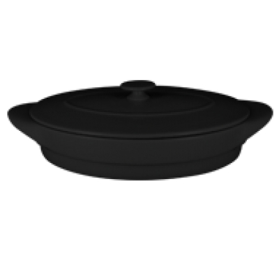 """Chefs fusion""Tava ovala cu capac t/r 44 cm. Black,1set, CHEFS FUSION,"