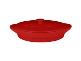 """Chefs fusion""Tava ovala cu capac t/r 44 cm. Red,1set"