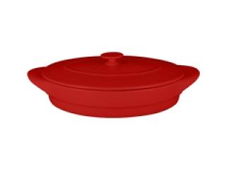 """Chefs fusion""Tava ovala cu capac t/r 44 cm. Red,1set"