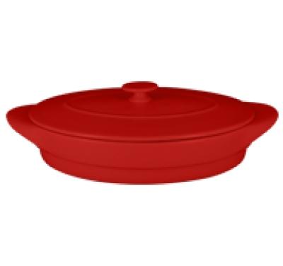 """Chefs fusion""Tava ovala cu capac t/r 44 cm. Red,1set, CHEFS FUSION,"