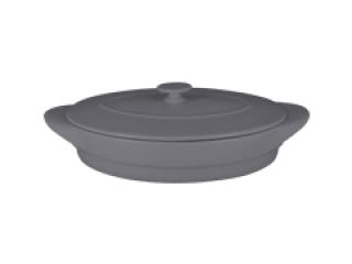 """Chefs fusion""Tava ovala cu capac t/r 44 cm. Gray,1set"