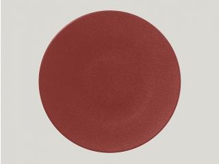 "RAK/""Neo fusion""Farfurie plata rotunda 29 cm. Brick-red, 1buc."