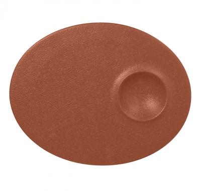 """""""Neo fusion""""Platou oval 18 cm. Brown, 1buc., NEO FUSION,"""