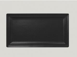 """Neo fusion""Platou dreptunghiular 38 cm. Black, 1buc."