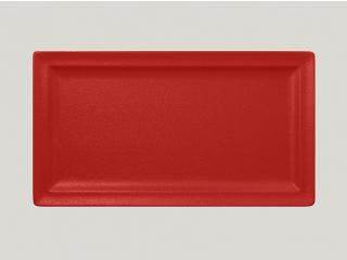 """Neo fusion""Platou dreptunghiular 38 cm. Red,, 1buc."