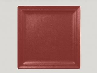 """""""Neo fusion""""Platou patrat 30 cm. Dark red,1buc."""