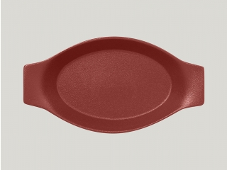 """""""Neo fusion""""Platou oval cu doua minere t/r 30cm. Dark red 1buc."""