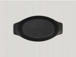 """Neo fusion""Platou oval cu doua minere 25cm. Black 1buc."