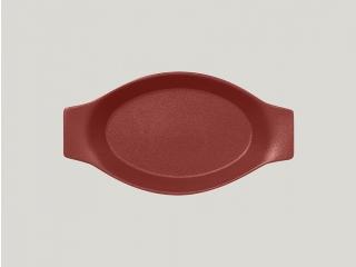 """""""Neo fusion""""Platou oval cu doua minere t/r 25cm. Dark red  1buc."""