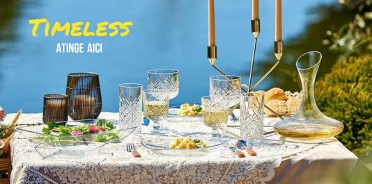 PASABAHCE - Elementul indispensabil al Verii fierbinți. seria TIMELESS - cheia unui picnic fastuos !!!