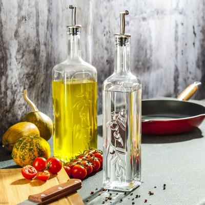 """""""Homemade"""" Oil/Vinegar set, 2 pcs., Jars for oil, vinegar, sauce,"""