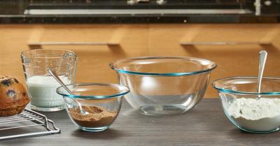 """Borcam Mix&Bake"" Set boluri t/r, 2 buc. 1/4, Vase termorezistente ""BORCAM"","