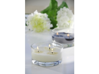 Luminare in vas de sticla Cream (3 fitiluri), 1 buc