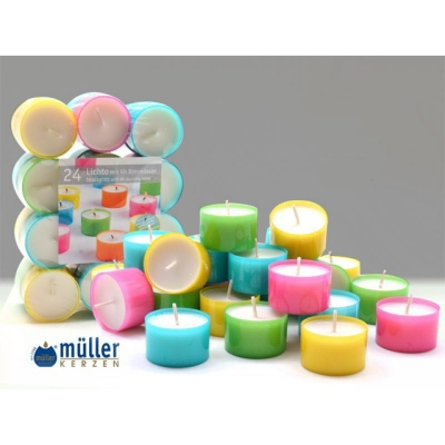 Set luminari Color 6H, 24 piese, Tealights,