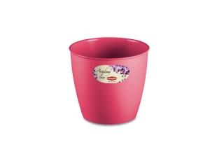 """""""Academy Line"""" Ghiveci pentru flori roz D.14*13h cm, 1 buc."""