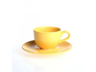 """""""Selen """"Set cana cu farfurioara p/u ceai galben 160 ml, 1 set"""