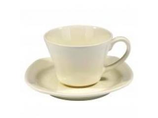 """Asya ""Set cana cu farfurioara p/u ceai ivory 150 ml, 1 set"