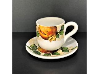 """""""Melograno"""" Set cana cu farf.  pt ceai, 2 piese"""