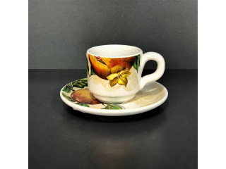 """Melograno"" Set cana cafea cu farf. , 2 piese"