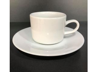 """White"" Set cana cu farfurioara p/u cafea 80 ml, 1 set"
