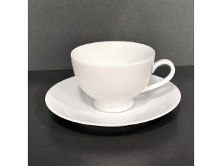 """""""White"""" Cana p/u ceai cu farfurioara,  2 pcs"""