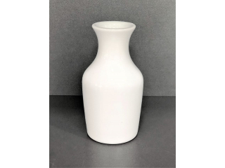 """White"" Vaza din portelan, h 12 cm, 1 pcs"