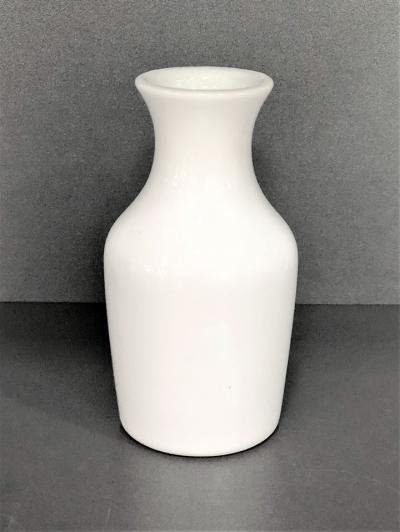 """White"" Vaza din portelan, h 12 cm, 1 pcs, WHITE,"