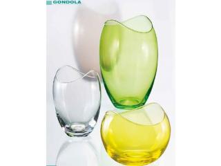 "CR/ Vaza ""Gondola""  255 mm, verde,  1 buc."