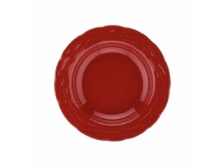 """OKT/ """"NC Athena"""" Farfurie adinca rosu D 22 cm, 1 buc."""