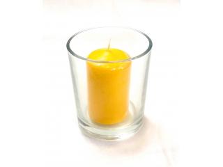 "Luminare in pahar ""Maxi"" yellow, 1 buc"