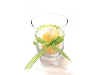 Luminare-ou yellow in pahar, 1 buc
