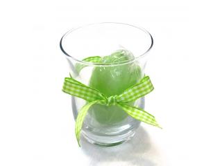 Luminare-ou light-green in pahar, 1 buc