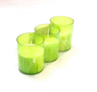 """Set luminari """"refill it"""" Green, 3 buc, Tealights,"""