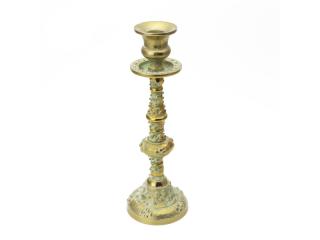 """Candelabru din aluminiu """"ANTIQUE GOLD"""", 5*8.5*25.5 cm, 1 buc"""