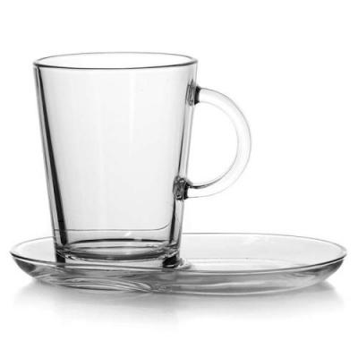 """Tribeca"" Set cana cu farfurioara, 2 pcs, 1/12, Tea and coffee mugs,"