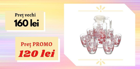 "Set ulcior cu pahare ""Red Dream"", 7 pcs.  Acum la SUPER PREȚ!"