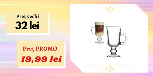 "Cană ""Irish Coffee"", 1 buc. Acum la SUPER PREȚ"