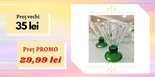 """Cupe p/u inghețată """"Ice ville green"""" , 2 pcs. Acum la SUPER PREȚ!"""