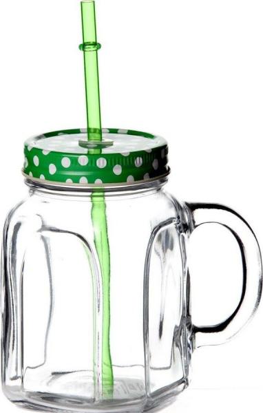 """""""Homemade"""" Cana cu capac verde, 1 buc. 1/12, Cani pentru ceai şi cafea,"""