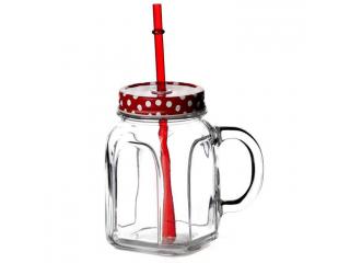"""""""Homemade"""" Cana cu capac rosu 450 ml, 1 buc. 1/12"""