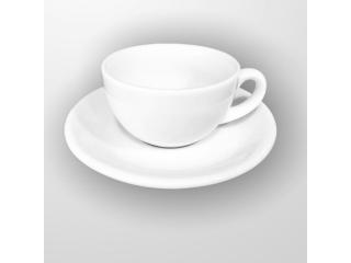 """White"" Set cana cu farfurioara p/u cafea 100 ml, 1 set"