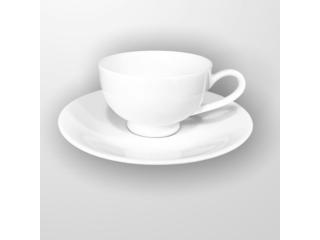"""White"" Set cana cu farfurioara p/u cafea 90 ml, 1 set"