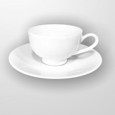 """White"" Set cana cu farfurioara p/u cafea 90 ml, 1 set, WHITE,"