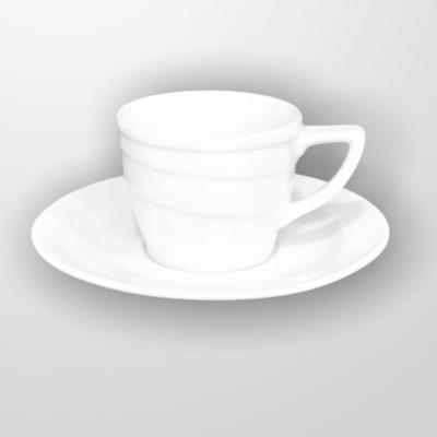 """White"" Set cana cu farfurioara p/u cafea 80 ml, 1 set, WHITE,"