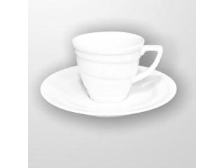 """White"" Set cana p/u ceai cu farfurioara 150 ml, 1 set"