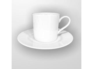 """White"" Set cana p/u ceai cu farfurioara 170 ml, 1 set"