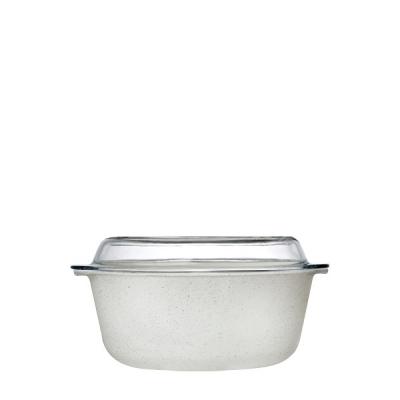 """""""Borcam"""" Vas cu capac termorezistent cream, 1pcs, Vase termorezistente """"BORCAM"""","""