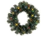 "Coronita artificiala ""Ottawa Wreath "" cu LEDuri, multicolor 38cm, 1 buc"
