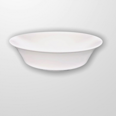 """White""  Salatieră din portelan D 25 cm, 1 pcs, WHITE,"
